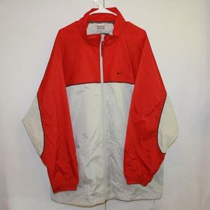 Nike Vintage Men's Size XXL Red & Gray Windbreaker